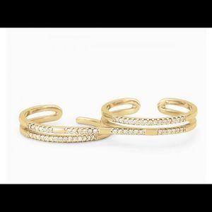 Stella & Dot Pave Duo Ring